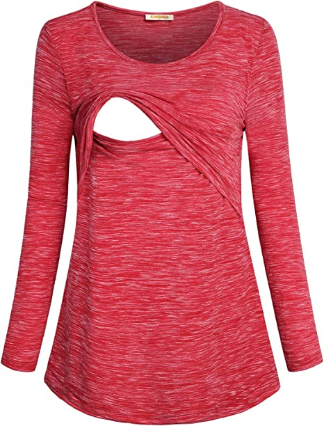 Baikea Women S Loose Comfy Layered Nursing Top And Shirts For Breastfeeding At Amazon Women S Clothing Store