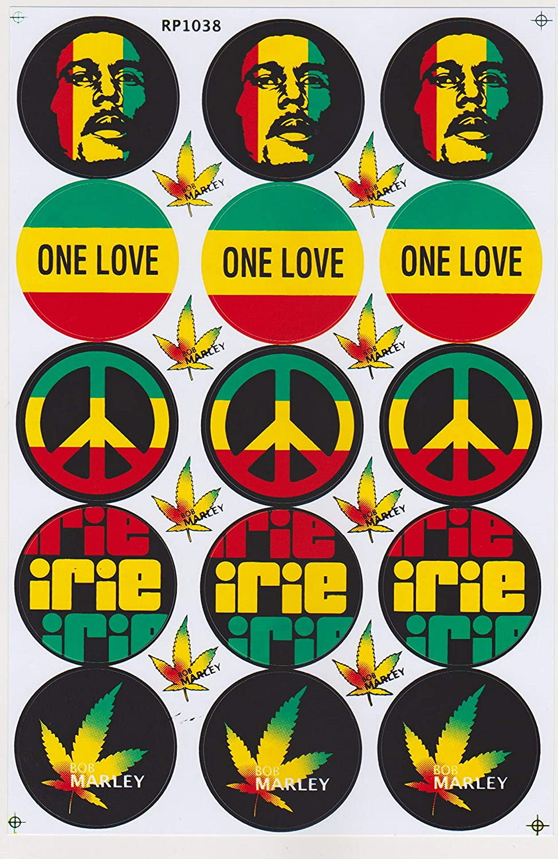 Adesivi Sticker Vinili Bob Marley Reggae Rasta Inri One Love Musica