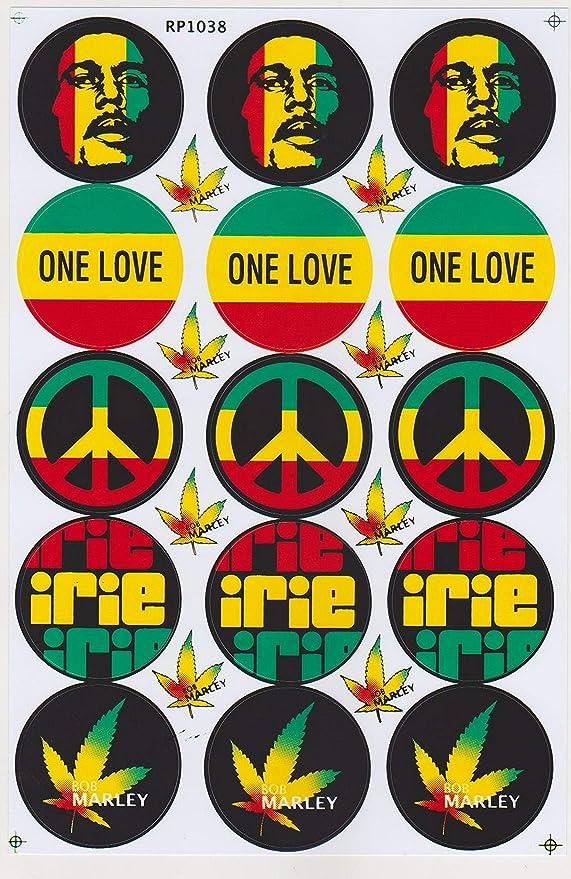 Jab Aufkleber Sticker Bob Marley One Love Peace Irie Marihuana Jamaika Reggae Rasta 1 Bogen 26 5 X 17 5 Cm Auto
