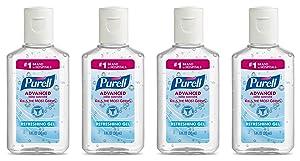 Purell Advanced Hand Sanitizer Gel 1 OZ Travel Size (4 Pack)