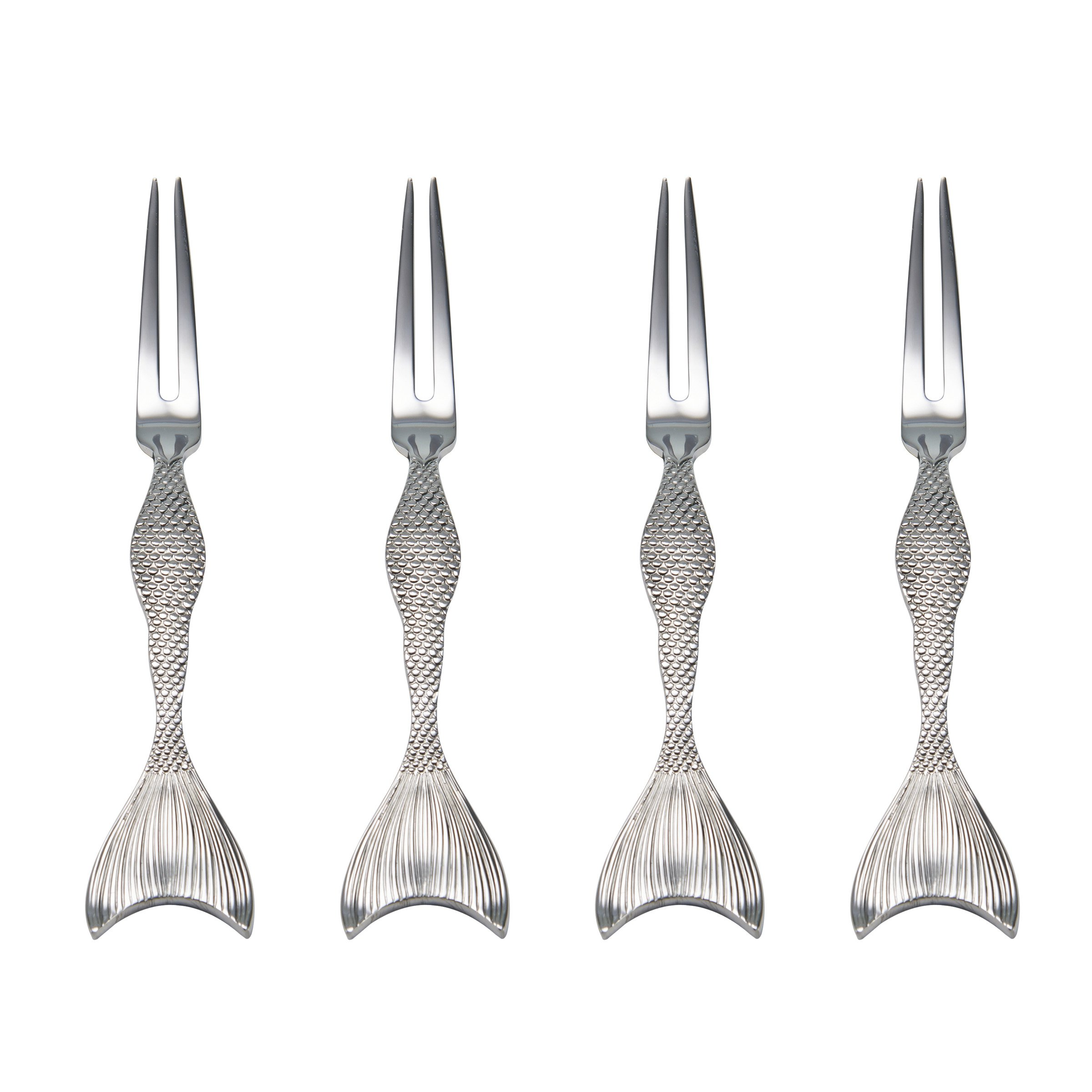Wallace 5228035 Mermaid Food Pick Set, One Size, Stainless Steel