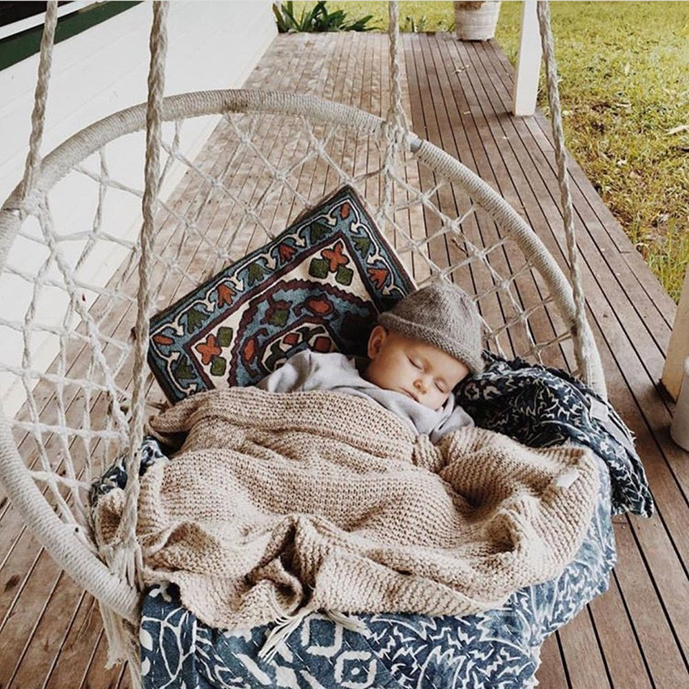 Cctro Mesh Hammock Net Chair Swing Hanging Rope Netted Soft Cotton Mayan Hammock Chair Swing Seat Porch Chair For Yard Bedroom Patio Porch Indoor Outdoor 300 Lbs Weight Capacity Garden