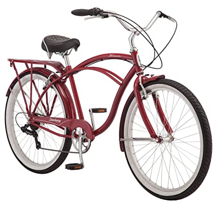 84f9d226f89 Schwinn Sanctuary 7 Cruiser Bike, Featuring Retro-Styled 16-Inch/Small  Step-Through and 18-Inch/Medium Step-Over Steel Frames, 7-Speed Drivetrain,  ...