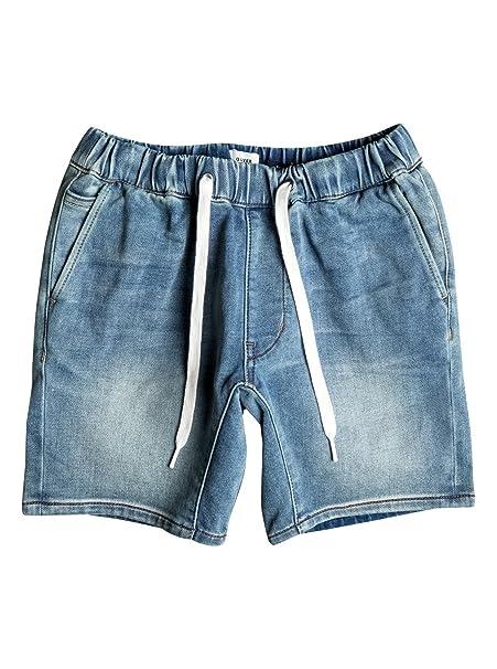 Quiksilver - Pantalones Cortos Vaqueros de Felpa de Corte ...