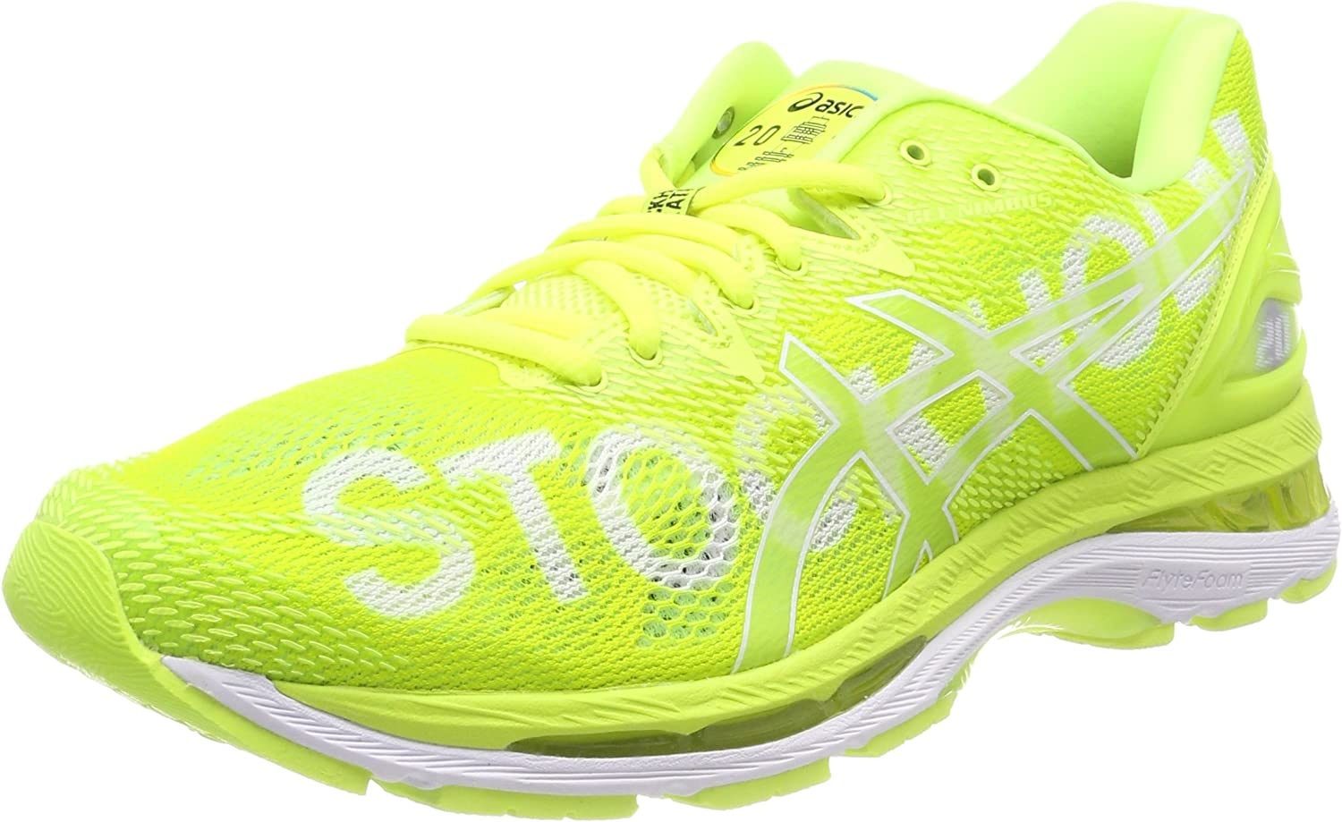 Asics Gel-Nimbus 20 Stockholm, Zapatillas de Running para Mujer, Amarillo (Safety Yellow/Safety Yellow/White 0707), 44 EU: Amazon.es: Zapatos y complementos