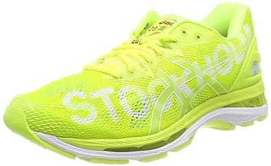 9d5534d624 ASICS Damen Gel-Nimbus 20 Stockholm Marathon Laufschuhe, Gelb Safety  Yellow/White 0707
