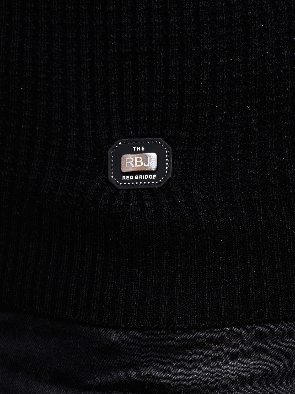 Large Redbridge Designer R-41500 Pull en tricot pour homme noir
