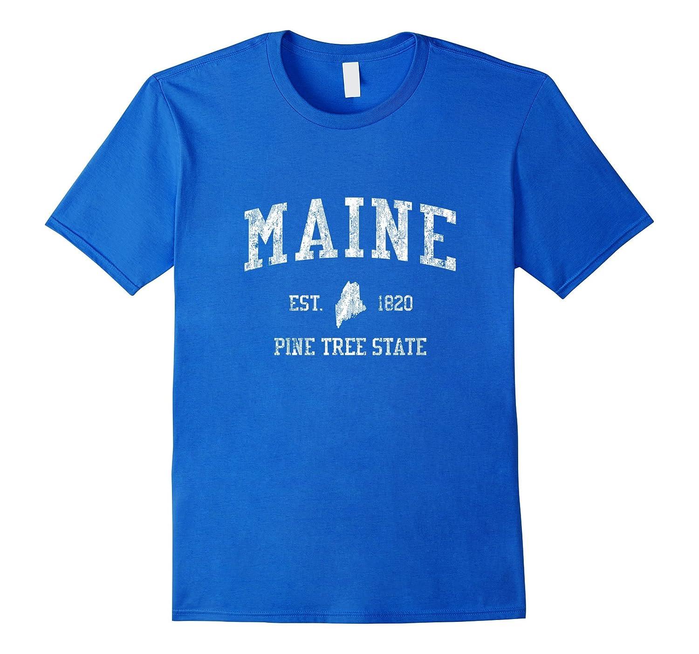 Retro Maine T Shirt Vintage Sports Tee Design-BN