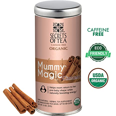 d79a31dc2244c Amazon.com: Secrets of Tea - Mummy Magic Weight Loss Cinnamon - Certified  USDA Organic Herbal Tea for Metabolism Boosting, Improved Digestion and ...