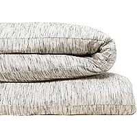 Calvin Klein Home Modern Cotton Strata Duvet Cover, King, Marble