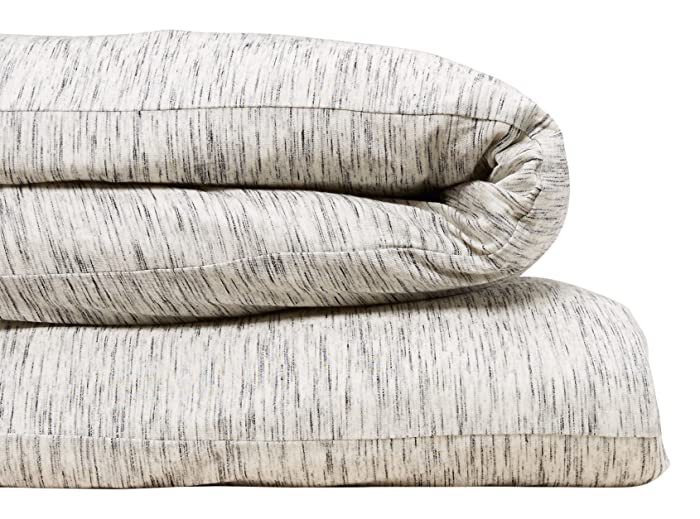 Calvin Klein Home Modern Cotton Strata Duvet Cover, King, Marble