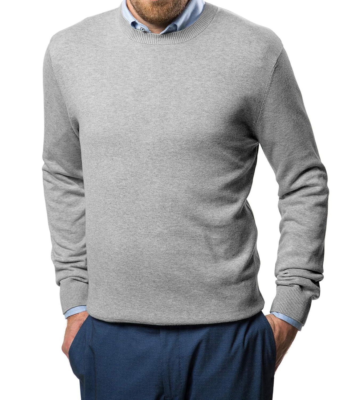 Marino Cotton Sweaters For Men Lightweight Crewneck Mens Pullover