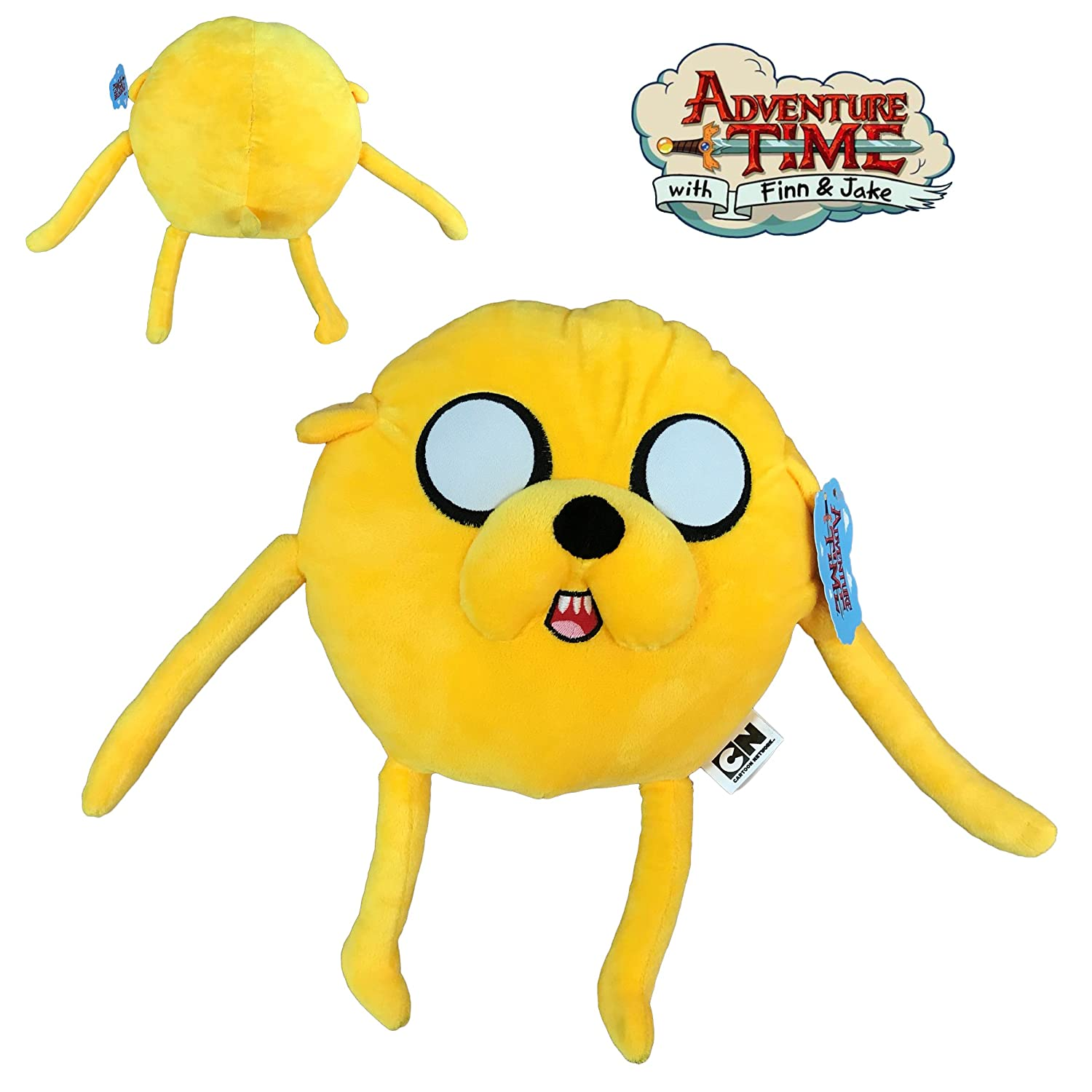 HORA AVENTURA JAKE PELUCHE (PERSONAJE AMARILLO) 30CM DE PIE Y 23CM SENTADO CALIDAD SUPER SOFT CARTOON NETWORK