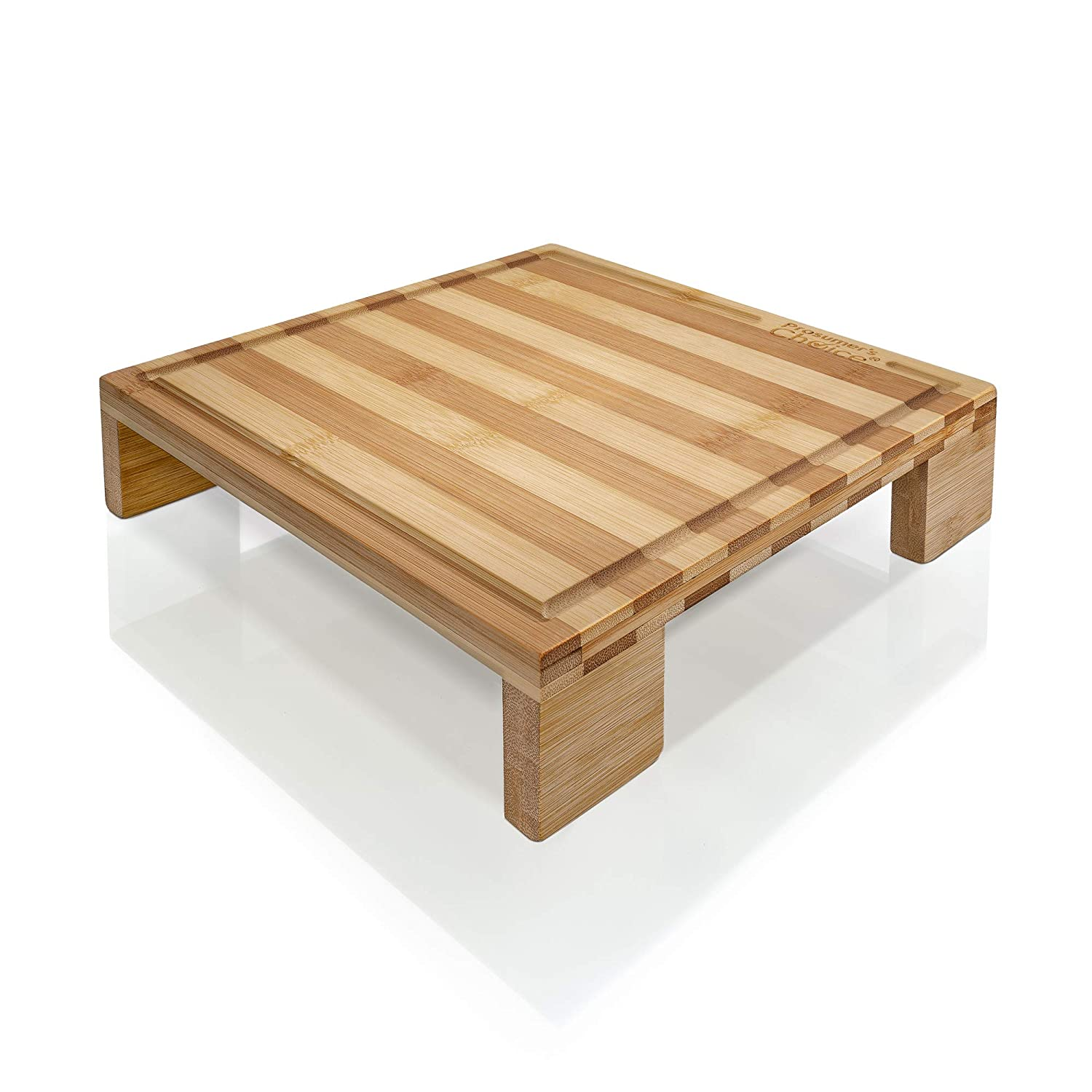 Prosumer's Choice Bamboo Cutting Board and Single Burner Stovetop Cover Cheese Platter