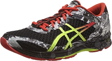 ASICS Mens Gel-Noosa Tri 11 Black, Flash Yellow and Orange Running Shoes - 10 UK/India (45 EU) (11 US): Amazon.es: Zapatos y complementos