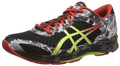 san francisco 4749e e9074 ASICS Men s Gel-Noosa Tri 11 Black, Flash Yellow and Orange Running Shoes -