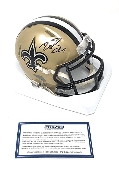 1227925d3f4 Drew Brees New Orleans Saints Signed Autograph Speed Mini Helmet Steiner  Sports Certified