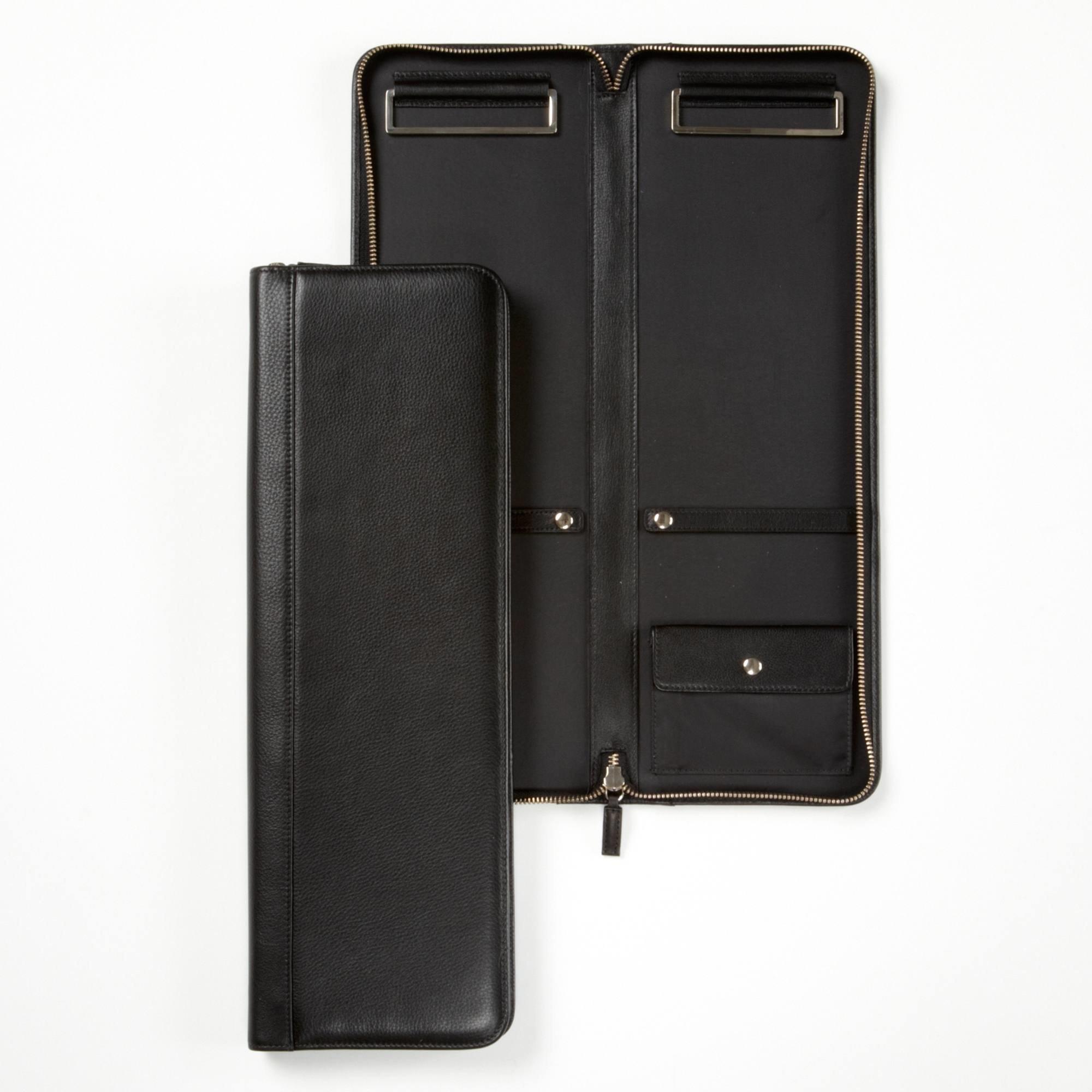 Tie Case - Full Grain Leather - Black Onyx (black)