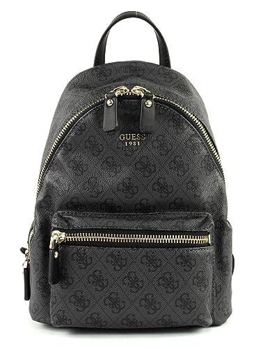 3ec103827b GUESS Leeza Small Backpack Coal  Amazon.co.uk  Shoes   Bags