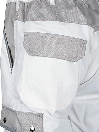 44-80 TMG Malerhose Arbeitshose Bundhose /Übergr/ö/ße Canvas 320g//m/² wei/ß Gr