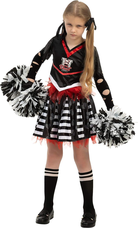 Spooktacular Creations Cheerless Costume for Girls Scary Spiritless Cheerleader Costume