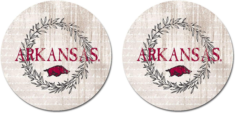 Sandstone One Size NCAA Legacy Arkansas Razorbacks Thirsty Car Coaster 2-Pack
