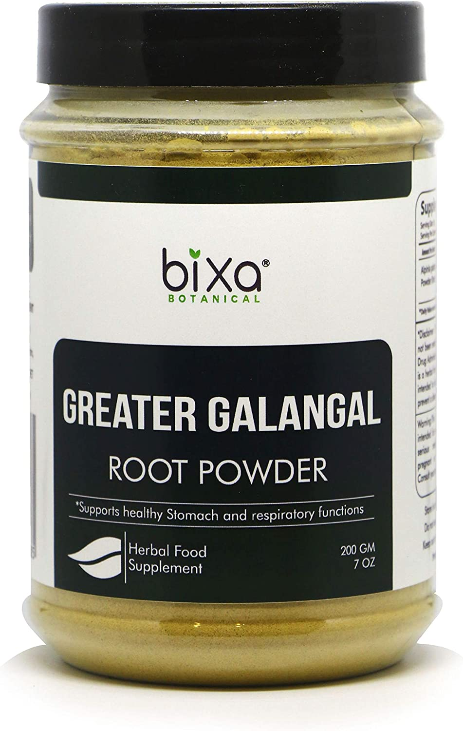Greater Galangal Root Powder (Kulinjan/Alpinia Galanga), Supports Healthy Stomach and Respiratory Functions by Bixa Botanical - 7 Oz (200g)