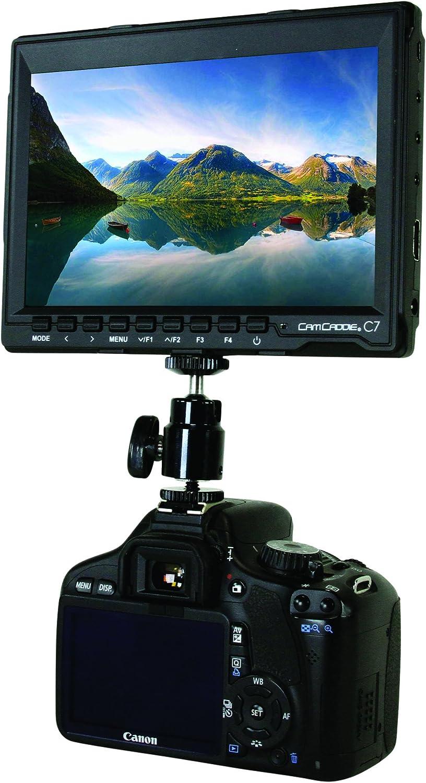 00C-MON-C7-EU European Black Cam Caddie C7 Field Monitor On-Camera /& Sony NP-F /& AC Power Supply,