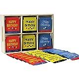 """Happy Birthday"" 36 Tea Bags In A Keepsake Wooden Gift Box"