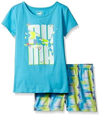 4ab4c7ba6df05a Amazon.com  PUMA Girls  2-Piece Active Tee and Short Set  Clothing