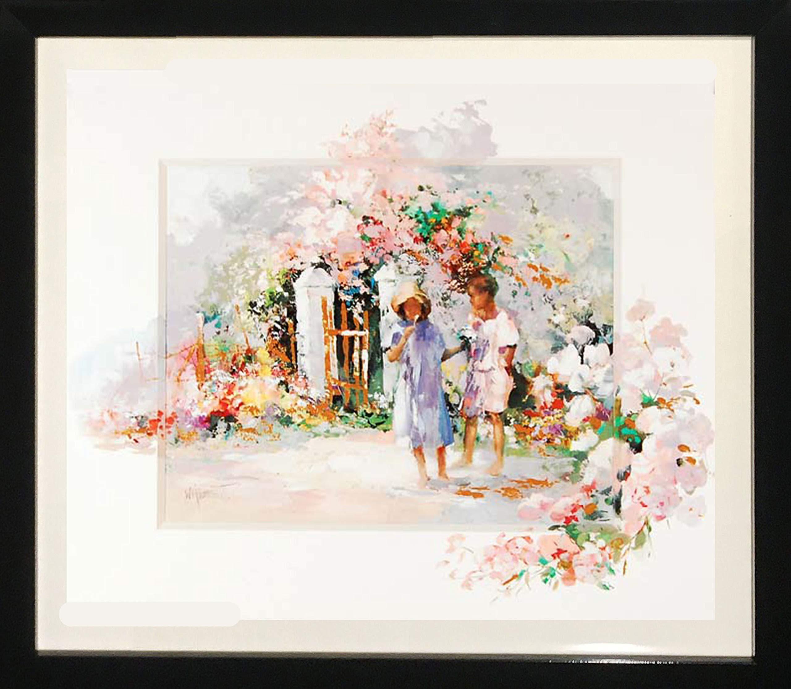 Framed Art''Flower Picking'' by Willem Haenraets by