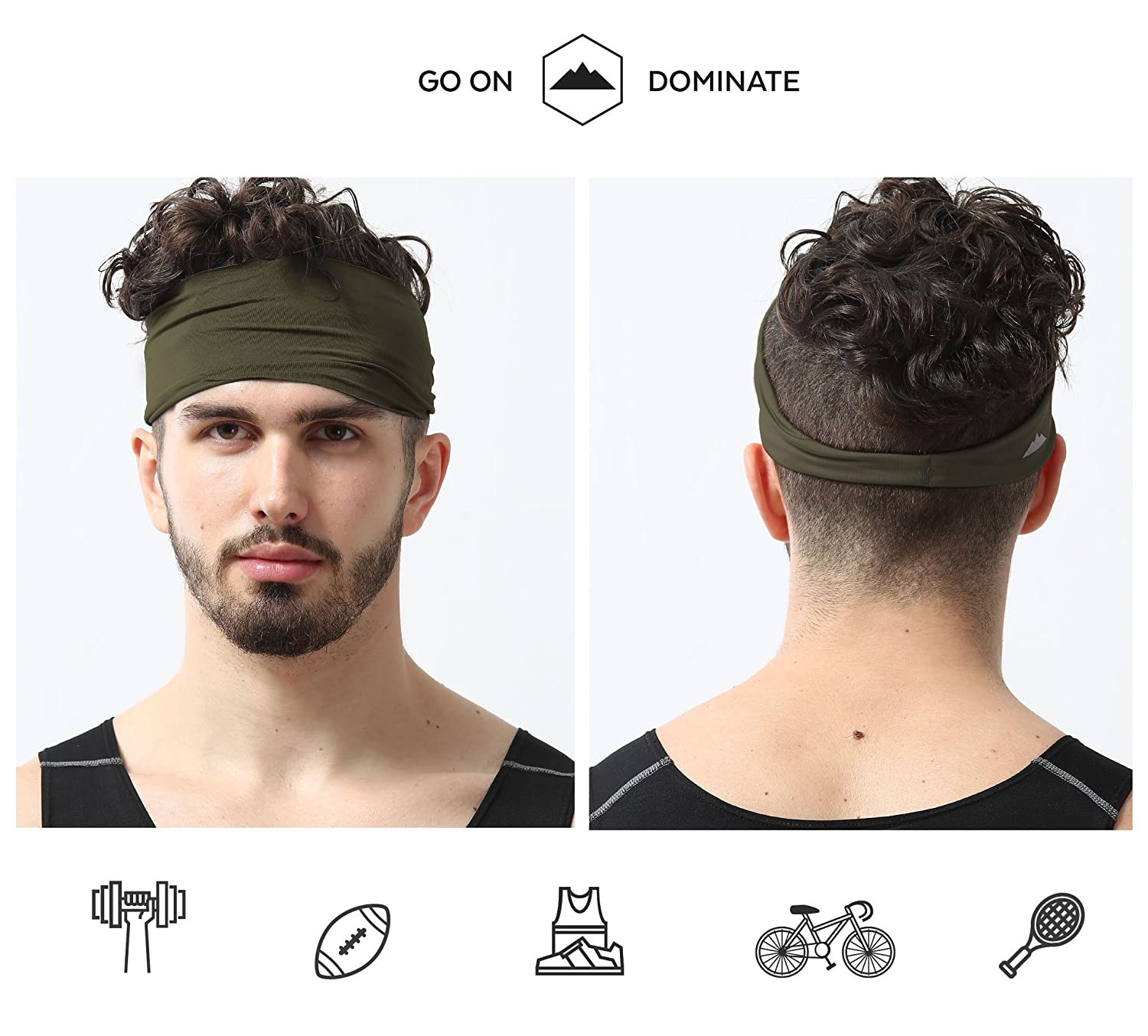 Mens Headband Dominating Competition Performance Image 2