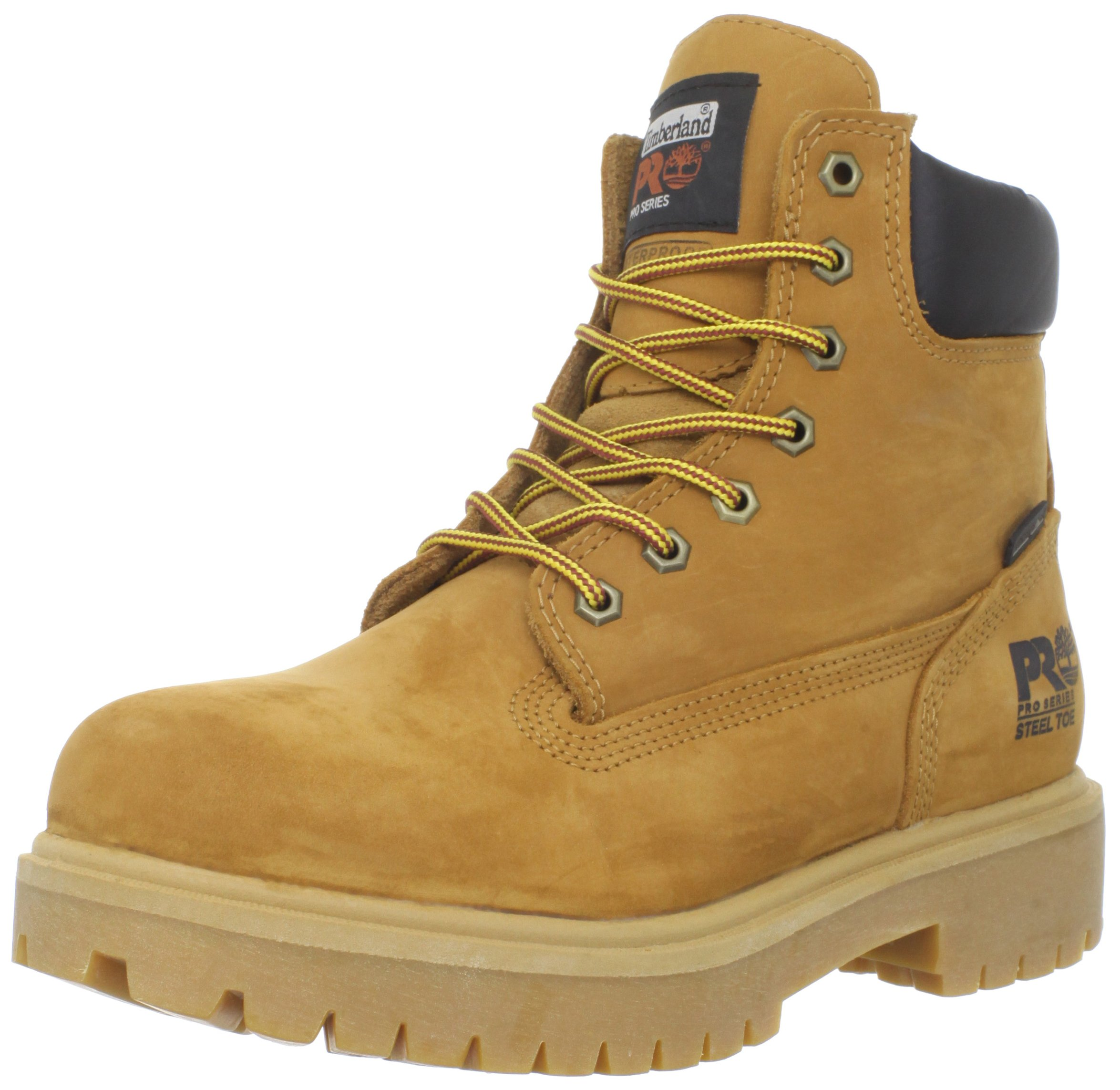 Timberland PRO Men's 65016 Direct Attach 6'' Steel Toe Boot,Yellow,7.5 M