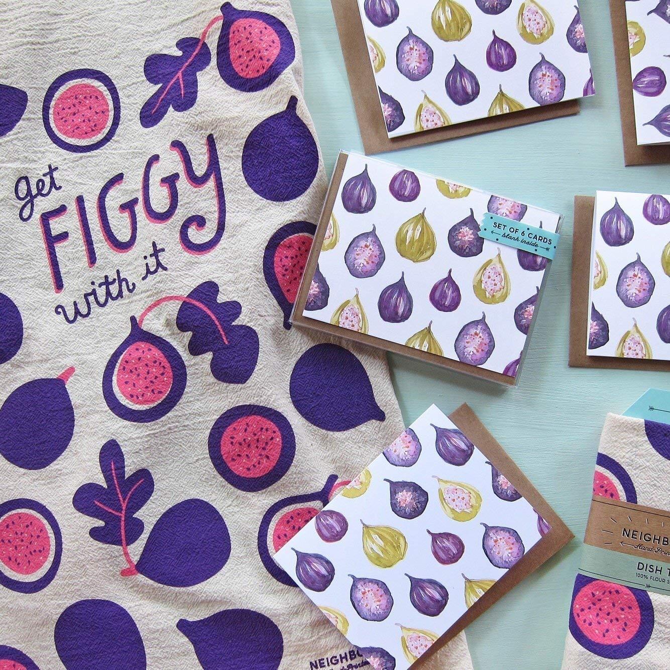 Get Figgy With It Kitchen Flour Sack Towel