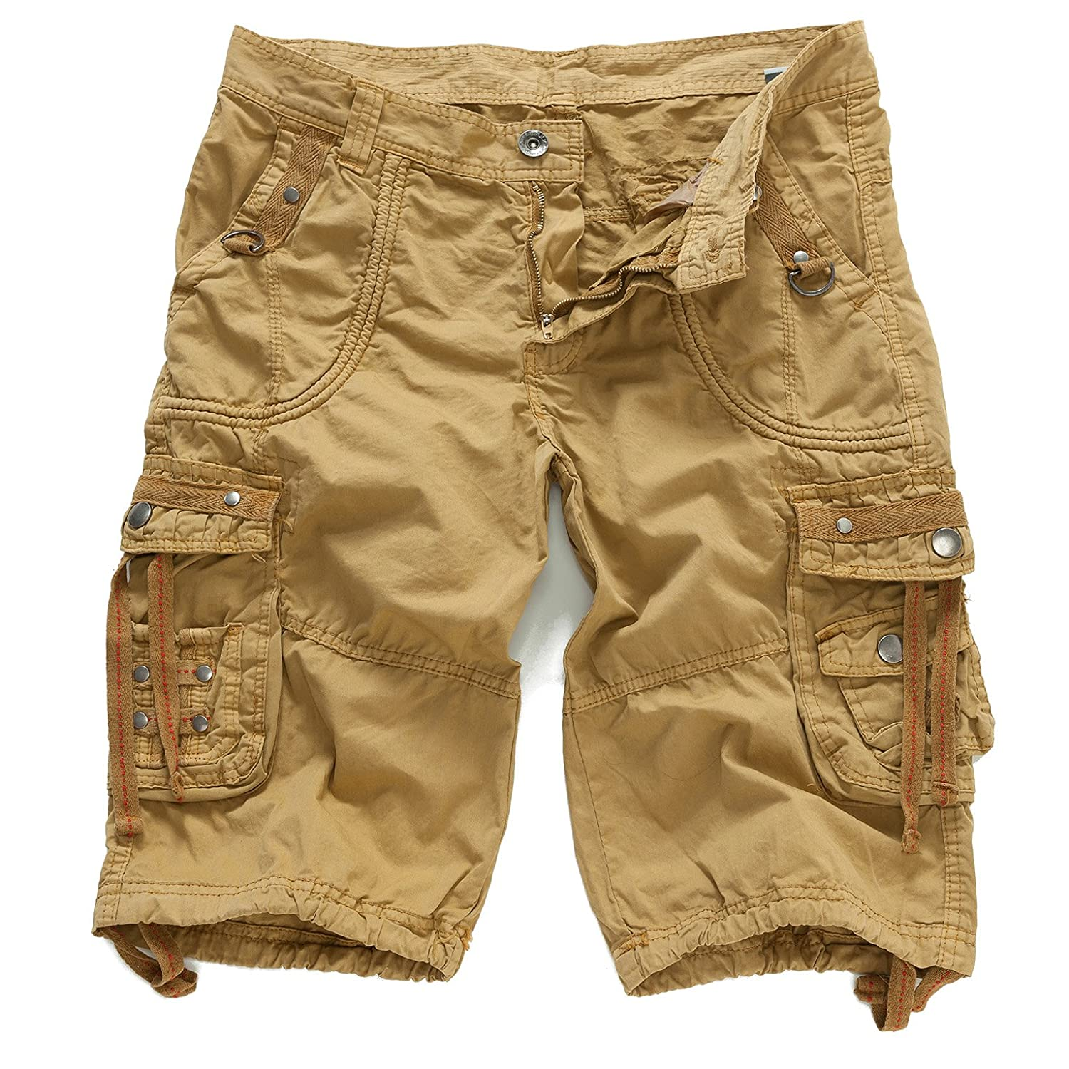 EAGLIDE Men's Cargo Shorts, Mens Loose Fit Athletic Cotton Casual Shorts