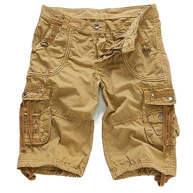 3287dc0cc9 EAGLIDE Men's Cargo Shorts,Mens Regular Fit Fashionable Cotton Casual Shorts  (Khaki, ...