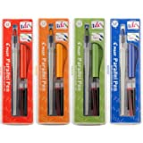Pilot Parallel Calligraphy Pen Set, 1.5 mm, 2.4 mm, 3.8 mm and 6 mm with Bundle Ink Cartridge (P9005SET) by Pilot