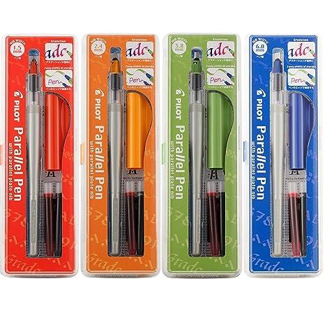 Amazon Com Set Of 4 Pilot Parallel Calligraphy Pens 1 5 2 4 3 8