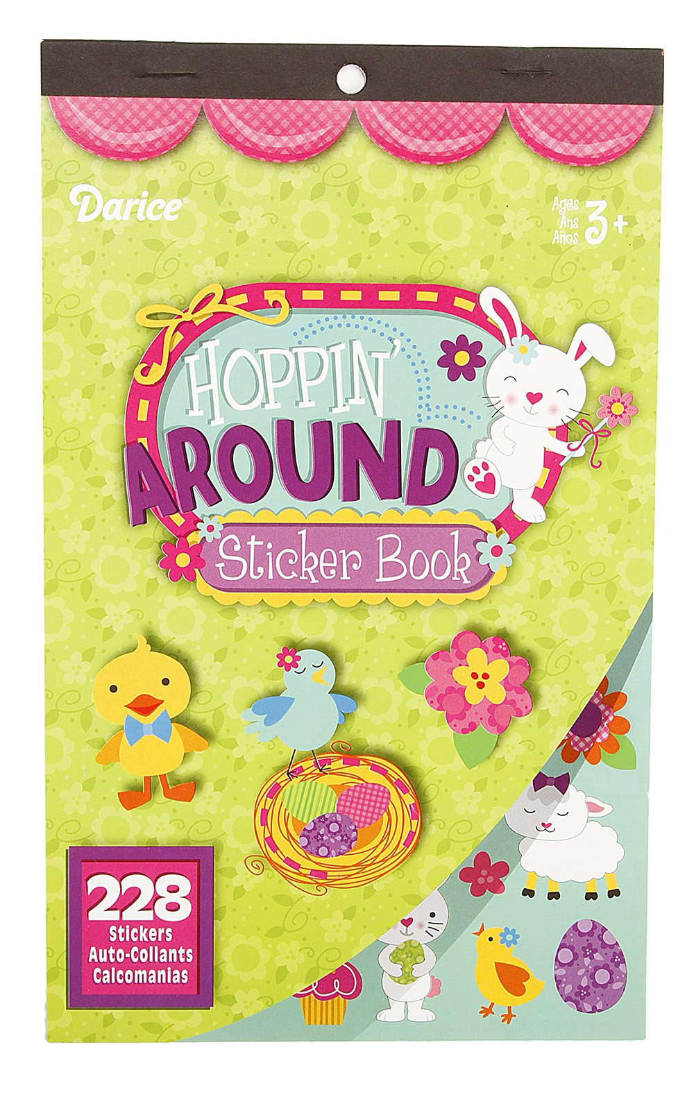 Darice Sticker Book - Hoppin' Around - 228 Stickers