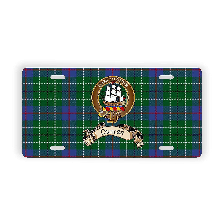 Duncan Scotland Clan Tartan Novelty Auto Plate