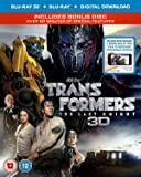 Transformers: The Last Knight (3D Blu-RayTM + Blu-Ray + Bonus Disc + Digital Download) [2017] [Region Free]