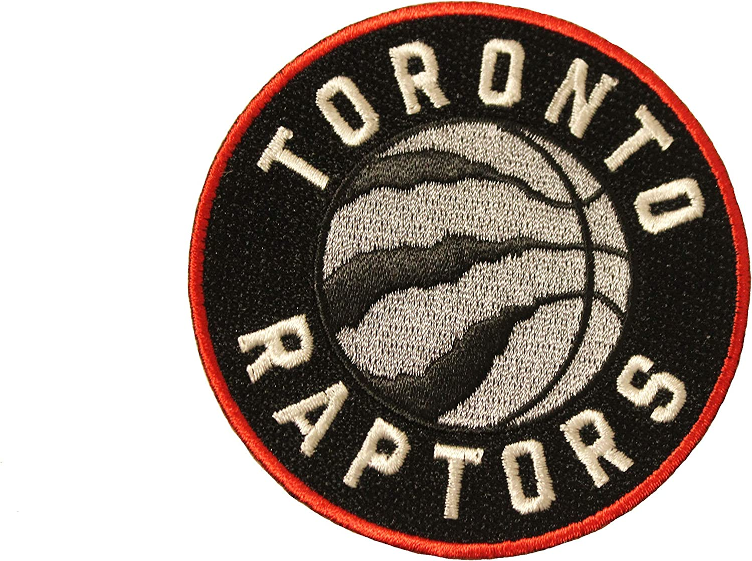 """TORONTO RAPTORS Logo Embroidered Iron-On PATCH CREST BADGE..Round 3/"""" Inch..New"""