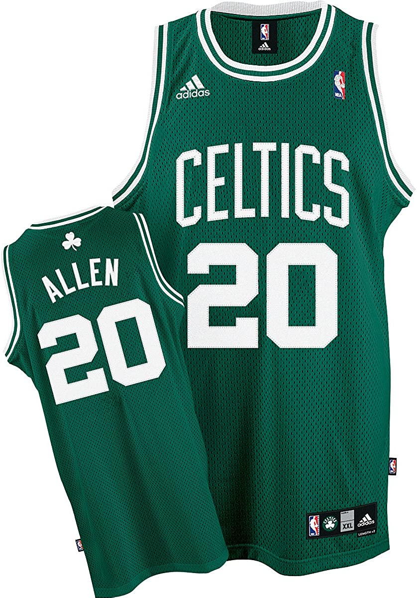 Amazon.com : adidas Boston Celtics #20 Ray Allen Green Swingman ...