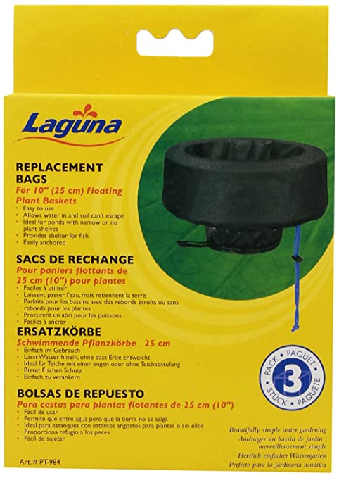 Laguna Floating Small Plant Basket Replacement Bag, 3-Pack