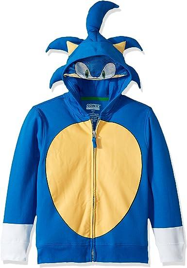 Amazon Com Sega Kids Sonic The Hedgehog Costume Hoodie Clothing