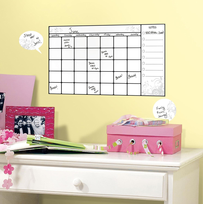 RoomMates RMK2382SCS Universal Calendar Dry Erase Peel and Stick ...