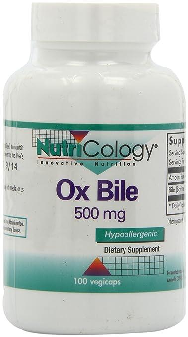 Buey bilis de Nutricology, 500 mg, 100 cápsulas vegetarianas