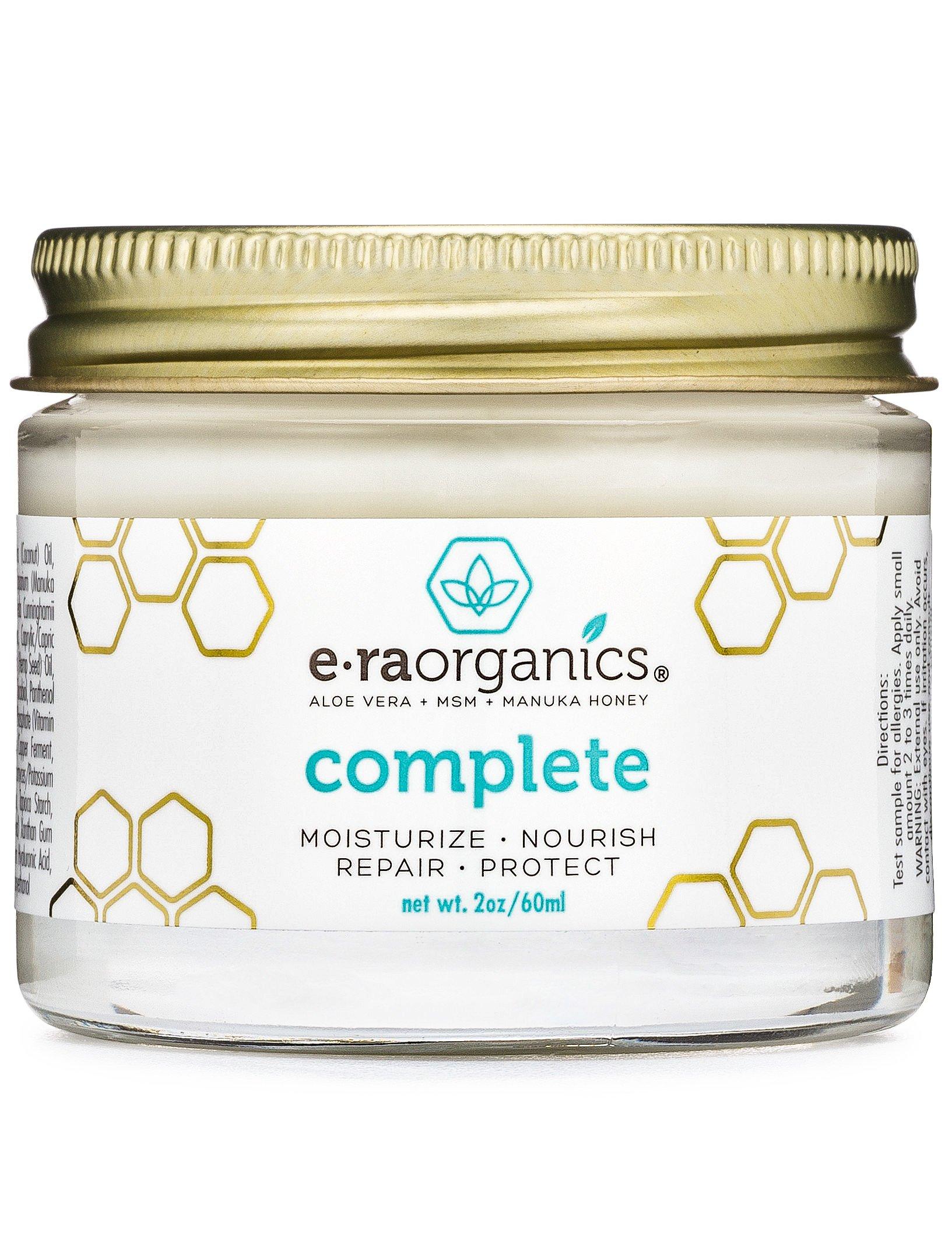 Natural & Organic Face Moisturizer Cream - Extra Nourishing & Hydrating 10-In-1 Daily Facial Cream with Aloe Vera, Manuka Honey, Coconut Oil, Cocoa Butter For Oily, Dry, Sensitive Skin Era-Organics by Era Organics