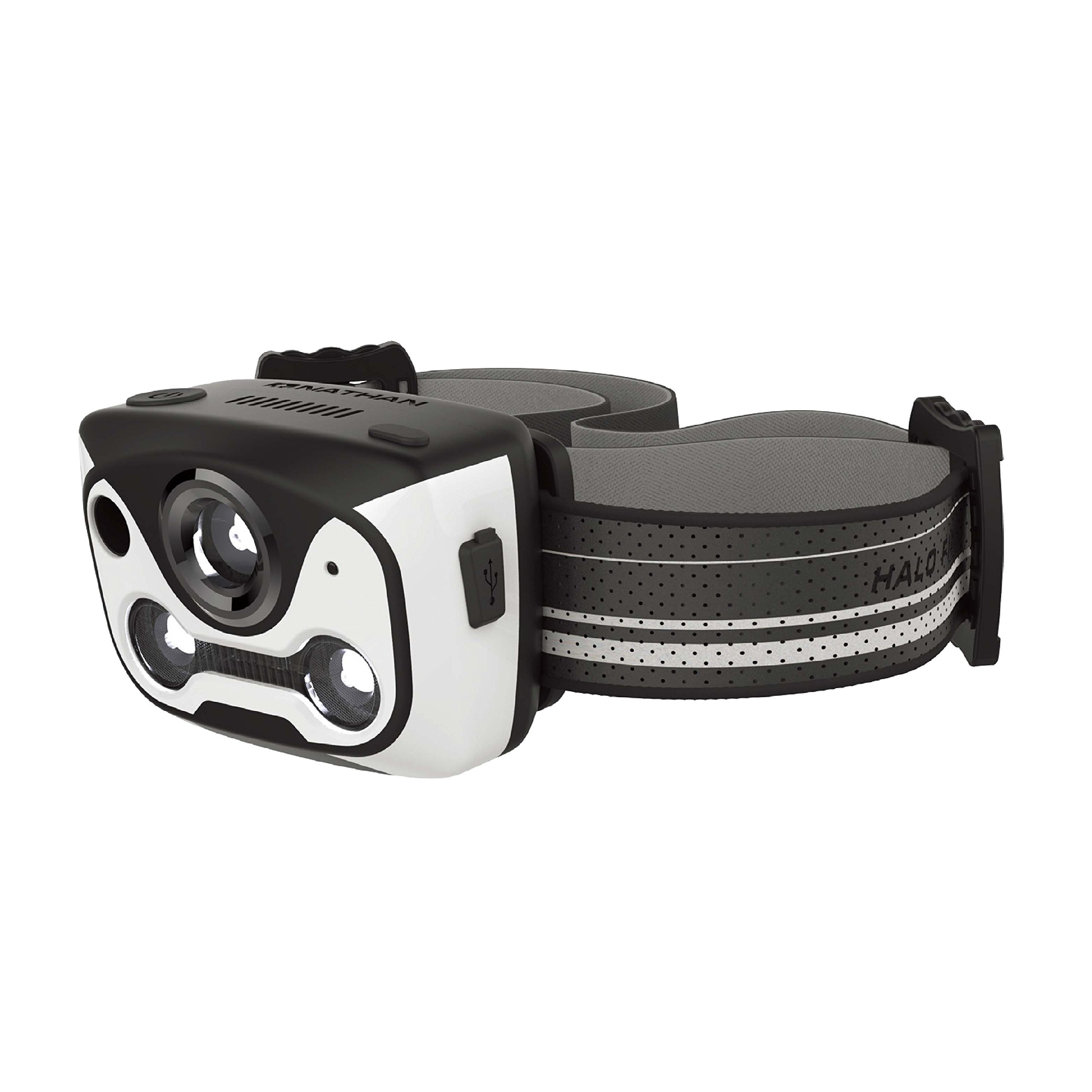 Nathan Halo Fire Headlamp, White/Black by Nathan