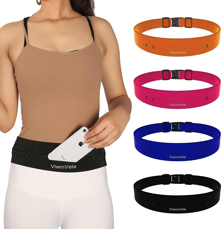 VIWIN VELA Running Belt Phone Holder Runner Belt for iPhone X XR XS MAX 7 8 Plus Samsung S8 S9 S10 Plus,Money Belt for Travel Walking Jogging, Gym Belt for Fitness Gym Women and Men 26 -45
